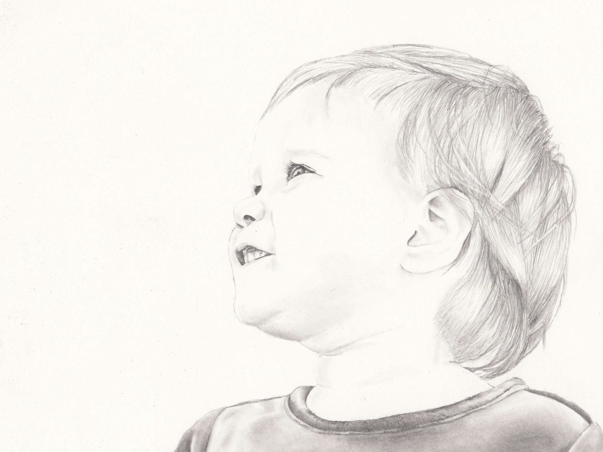 """Pure Innocence"" - Graphite Portrait"