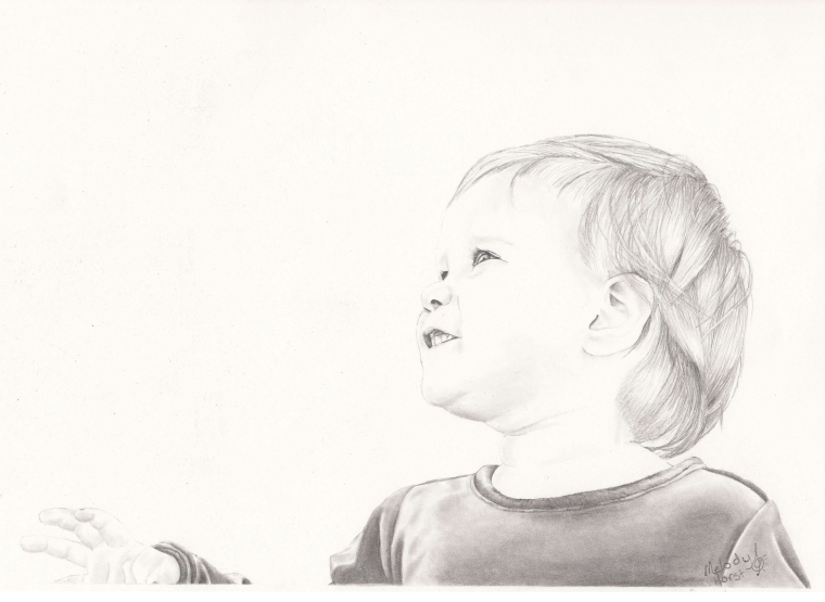 Pure Innocence - Graphite Portrait