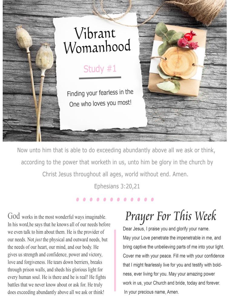 Vibrant Womanhood Study #1
