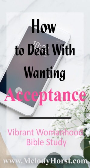 How to deal with wanting exceptance