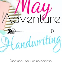 May Adventure: Handwriting